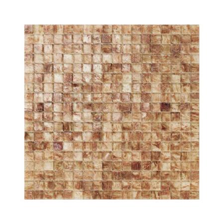 Kremowo-brązowa mozaika ze szkła BIRMANIA