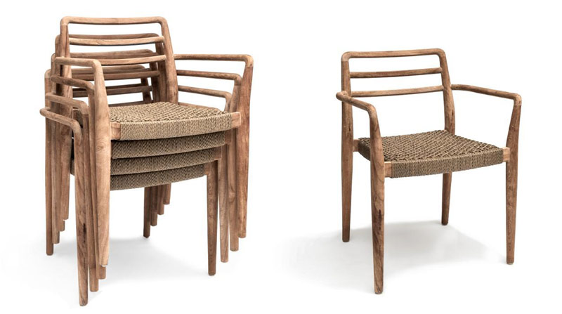 Krzesła sztaplowane dla hoteli i restauracji Jared