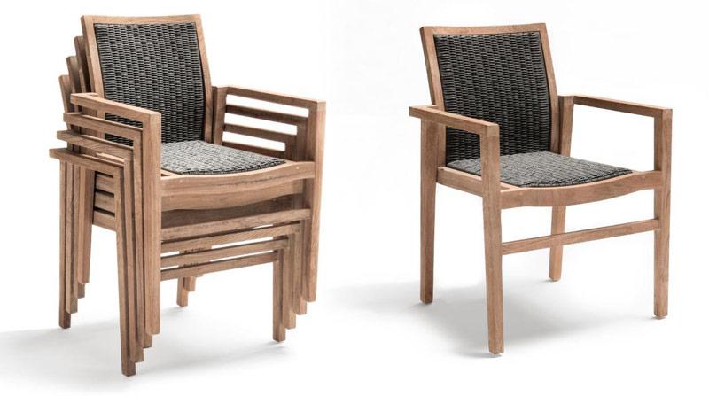 Krzesła sztaplowane dla hoteli i restauracji Lisa