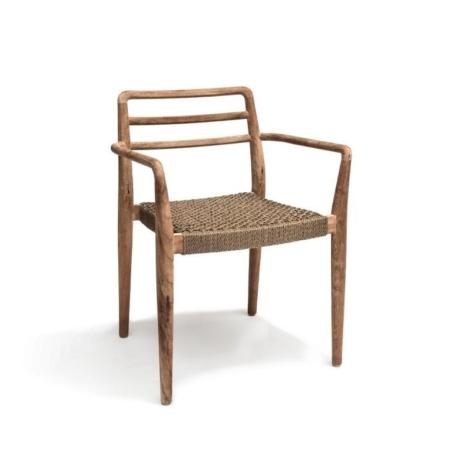 Krzesło zewnętrzne z podłokietnikami JARED