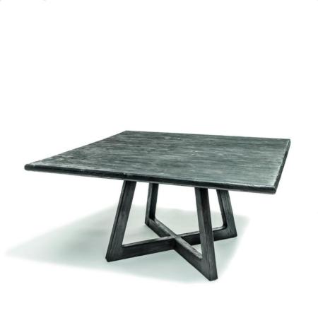 Kwadratowy stół z drewna DENNIS