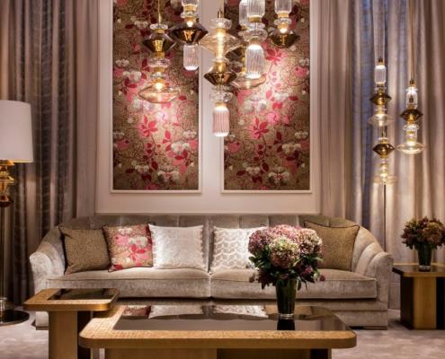 Kwiecista mozaika w salonie