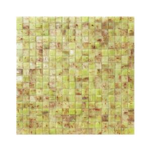 Limonkowo-brązowa mozaika ze szkła HONDURAS
