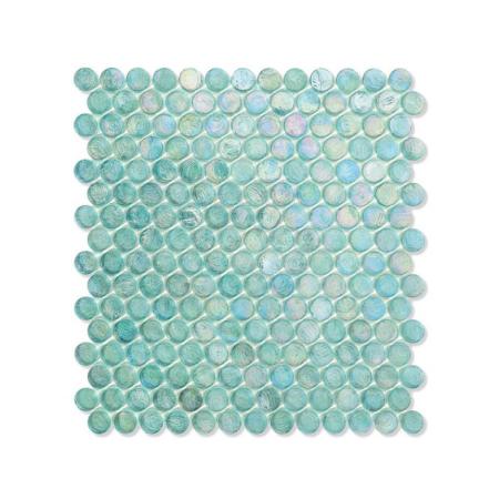 Miętowa mozaika ze szkła z tęczowym refleksem BARRELS 242 ORGANZA
