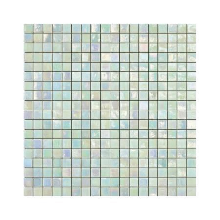 Miętowa mozaika ze szkła z tęczowym refleksem FERN 0