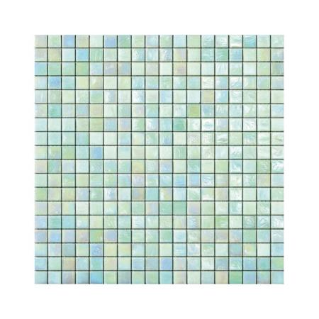 Miętowa mozaika ze szkła z tęczowym refleksem FERN 1