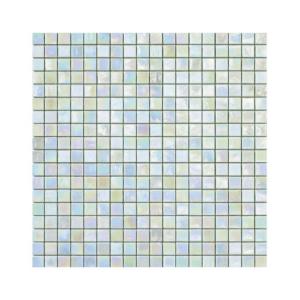Miętowa mozaika ze szkła z tęczowym refleksem LILIUM