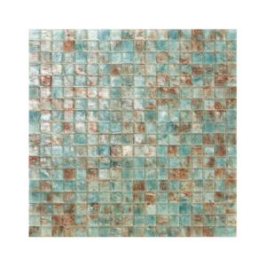 Miętowo-brązowa mozaika ze szkła ANTILLE