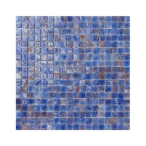 Niebiesko-brązowa mozaika ze szkła ANTARTIDE