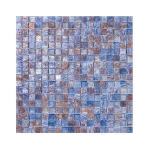 Niebiesko-brązowa mozaika ze szkła INDIA