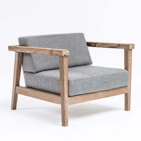 Niski fotel z drewna COPENHAGUE