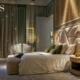 Nowoczesna sypialnia z stylu glamour