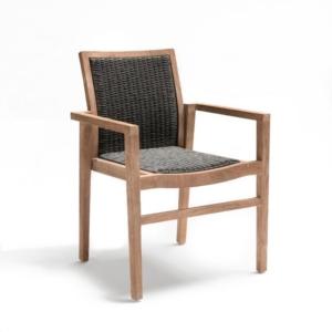 Nowoczesne krzesła zewnętrzne pionowe składowanie LISA