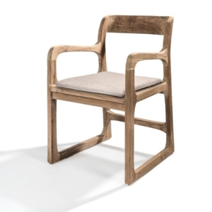 Nowoczesne krzesło z drewna podłokietniki SALLY