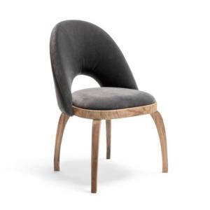 Nowoczesne krzesło z tapicerki i drewna VICTORIA