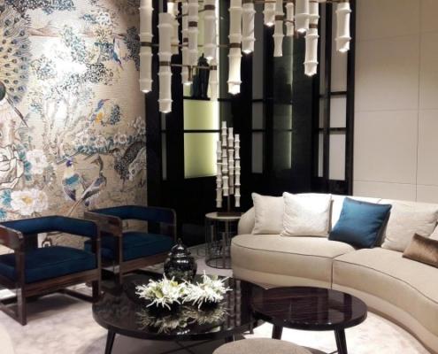 Obraz z mozaiki w orientalnym salonie