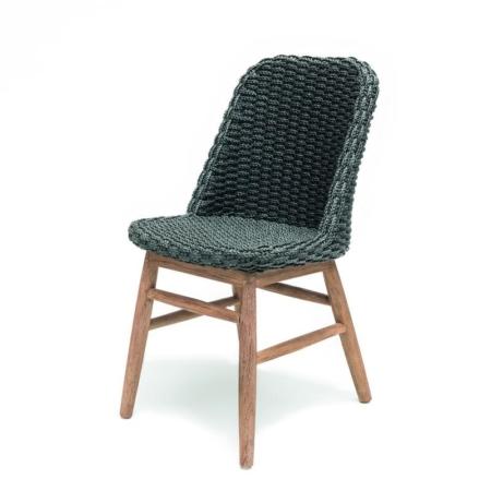 Ogrodowe krzesło plecione z liny SIENNA
