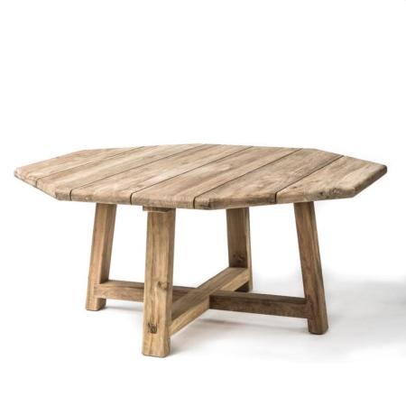 Okrągły stół ogrodowy z drewna HARRY