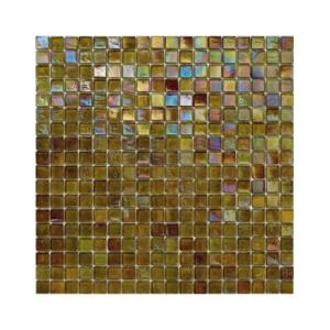 Oliwkowa mozaika ze szkła z tęczowym refleksem 127 LYCHEE
