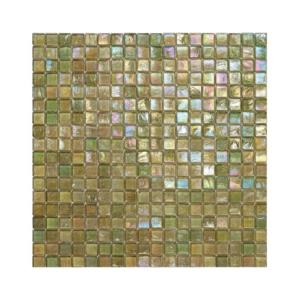 Oliwkowa mozaika ze szkła z tęczowym refleksem 144 PEACH