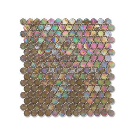 Oliwkowa mozaika ze szkła z tęczowym refleksem BARRELS 210,5 SATIN
