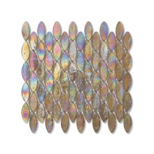 Oliwkowa mozaika ze szkła z tęczowym refleksem DOMES 210,5 SATIN