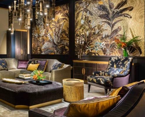 Orientalny salon z akcentami glamour