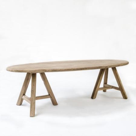 Owalny stół z drewna SAM