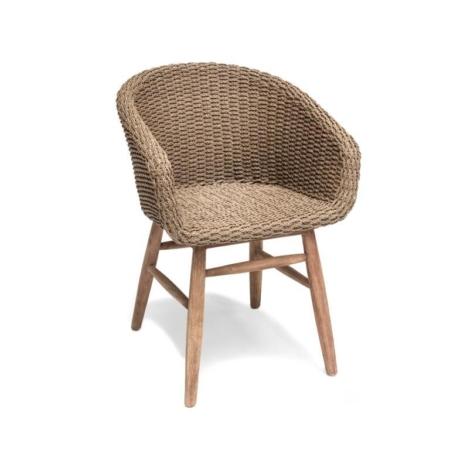 Plecione krzesło z podłokietnikami CHARLY