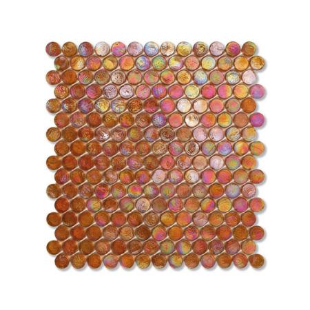Pomarańczowa mozaika ze szkła z tęczowym refleksem BARRELS 203 JUTE