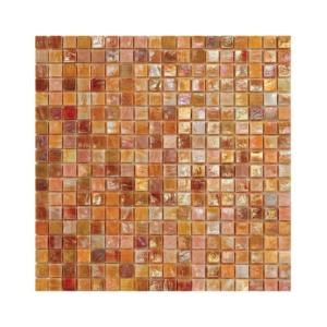 Pomarańczowo-brązowa mozaika ze szkła DAHLIA 3