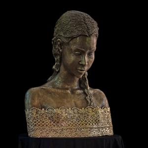 Popiersie dziewczynki z brązu Małgorzata Chodakowska