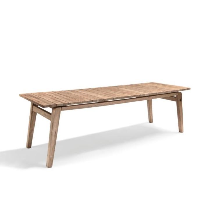Prostokątny, drewniany stół ogrodowy COPENHAGUE