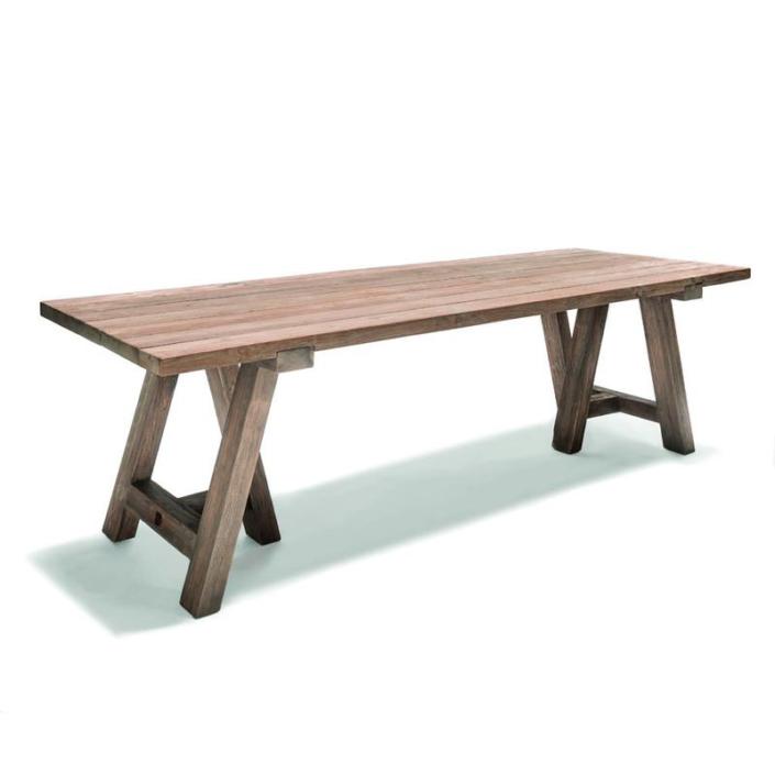 Prostokątny stół zewnętrzny z drewna SHRAGI