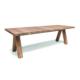 Prostokątny stół zewnętrzny z drewna ZIGGY