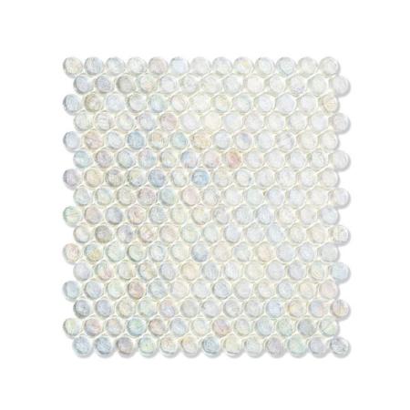 Przezroczysta mozaika ze szkła z tęczowym refleksem BARRELS 221 FLAX