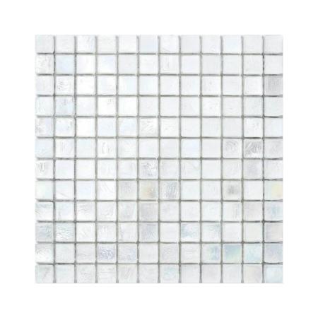 Przezroczysta mozaika ze szkła z tęczowym refleksem CUBES 220 COTTON