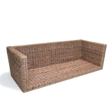 Rattanowa sofa w nowoczesnym stylu RENE
