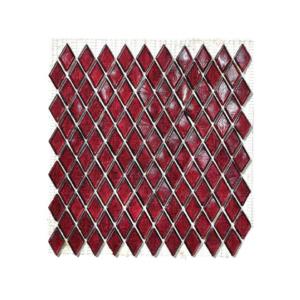 Rubinowa mozaika ze szkła EDCORA
