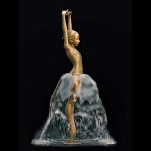 Rzeźba fontanna z brązu Kleine Ballerina Małgorzata Chodakowska