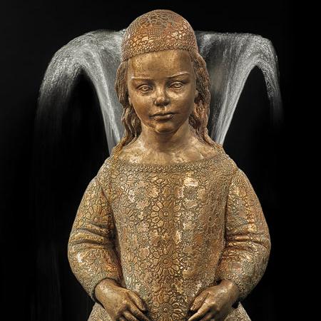 Rzeźba fontanna z brązu Kleine Prinzessin Małgorzata Chodakowska