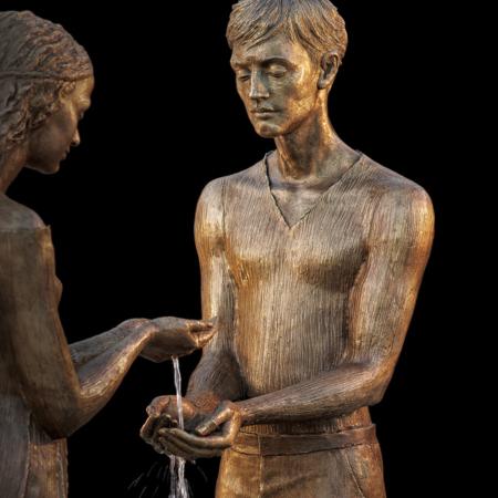 Rzeźba fontanna z brązu Liebespaar Małgorzata Chodakowska