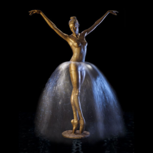 Rzeźba fontanna z brązu Prima Ballerina Małgorzata Chodakowska
