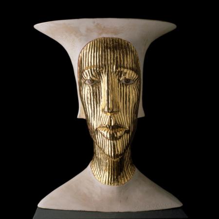 Rzeźba złota maska Goldene Maske Małgorzata Chodakowska