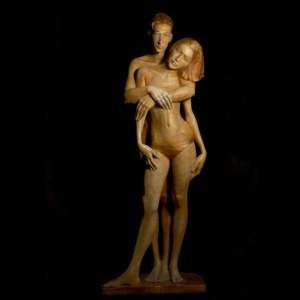 Rzeźba z brązu Para Małgorzata Chodakowska