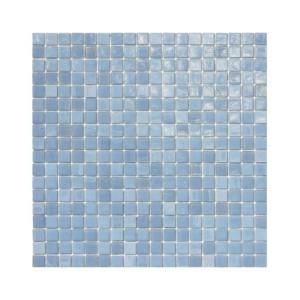 Szaro-błękitna mozaika ze szkła NIMBUS