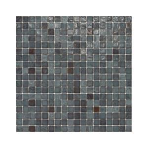 Szaro-brązowa mozaika ze szkła MUD