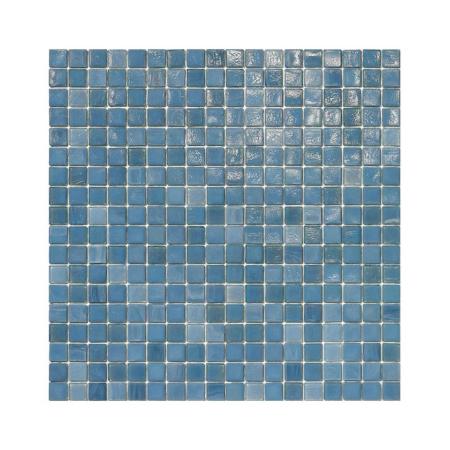 Szaro-niebieska mozaika ze szkła EUCALYPTUS