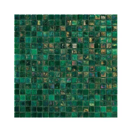 Szmaragdowa mozaika ze szkła FERN 4