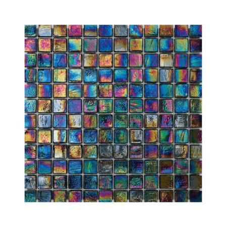 Tęczowa mozaika ze szkła CUBES 246 VELVET